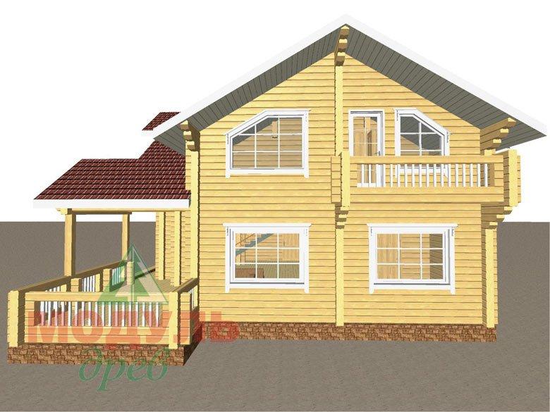 Проект дома из бруса «Аркон» - макет 5