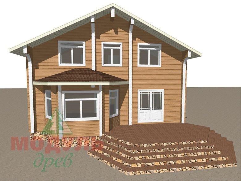 Проект дома из бруса «Аврора» - макет 1