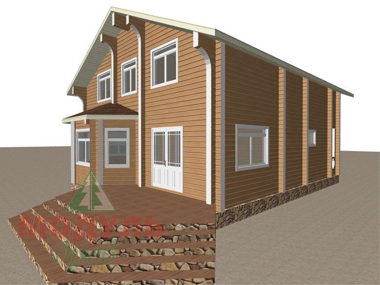 Проект дома из бруса «Аврора» - макет 2