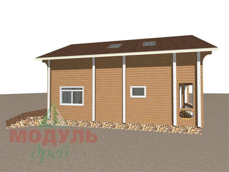 Проект дома из бруса «Аврора» - макет 3