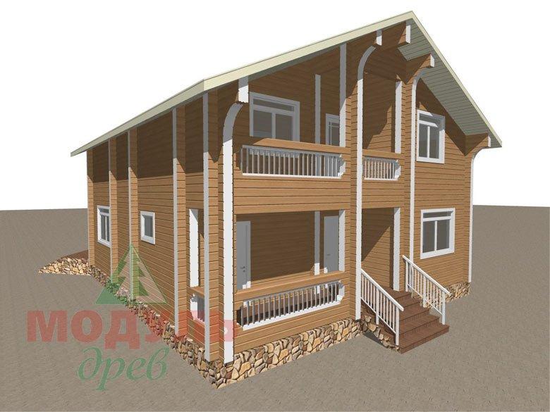 Проект дома из бруса «Аврора» - макет 4