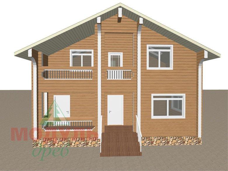 Проект дома из бруса «Аврора» - макет 5