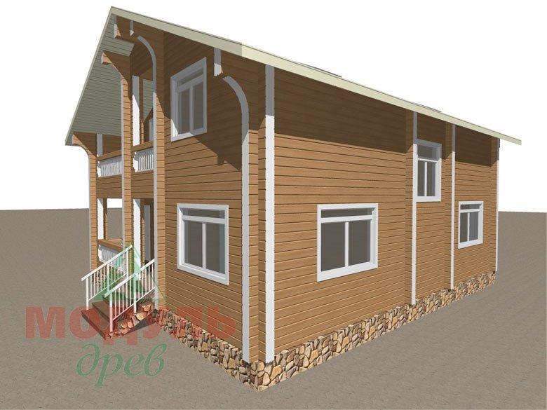Проект дома из бруса «Аврора» - макет 6