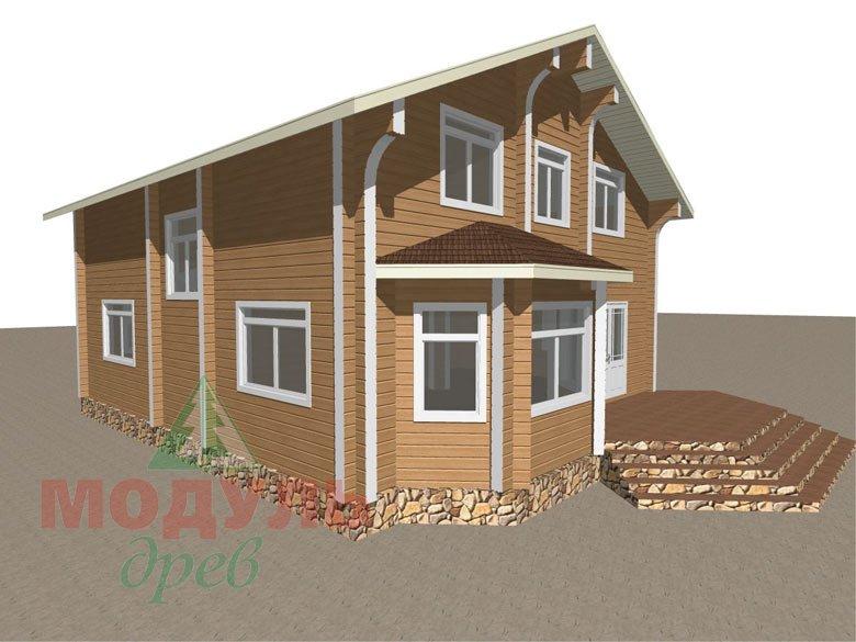 Проект дома из бруса «Аврора» - макет 8