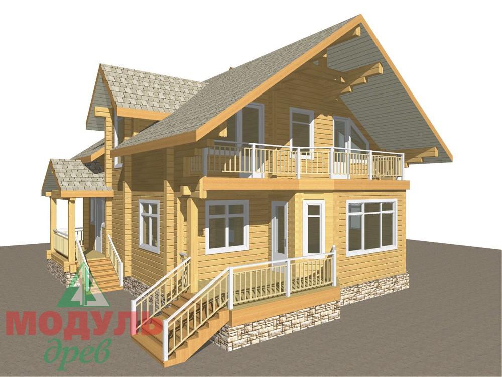 Загородный брусовой дом «Азов» - макет 1