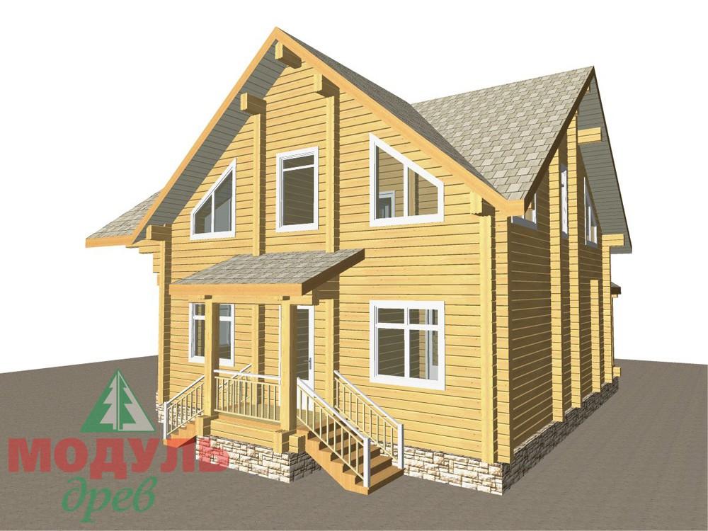 Загородный брусовой дом «Азов» - макет 2