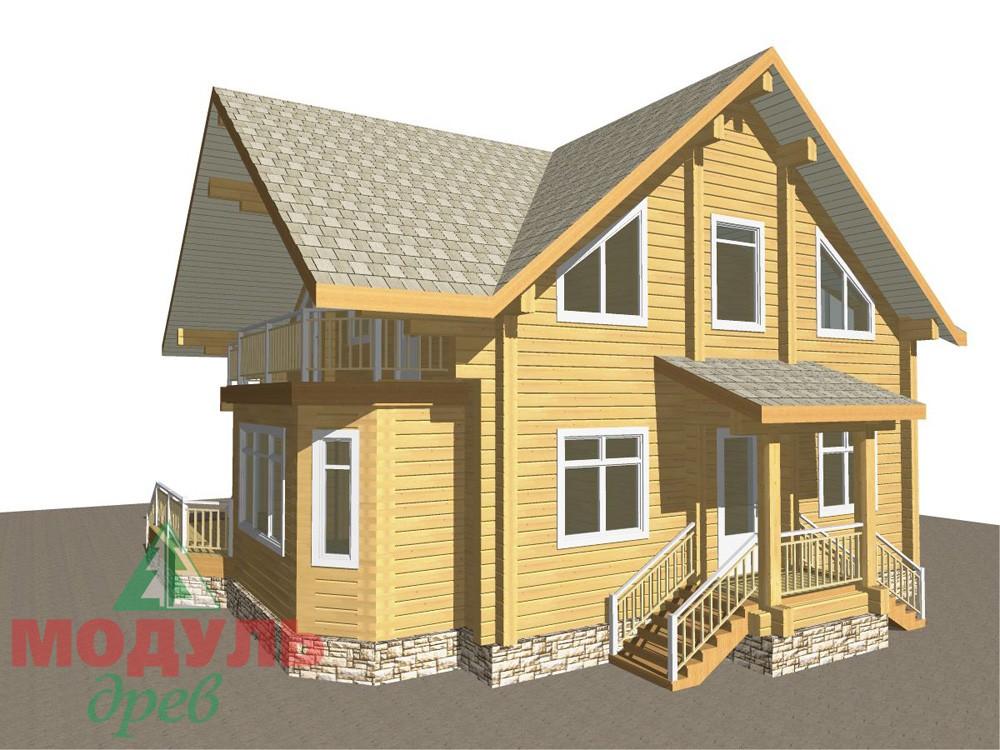 Загородный брусовой дом «Азов» - макет 3