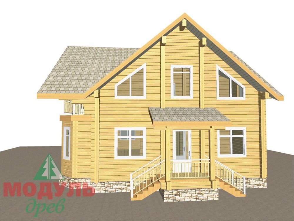 Загородный брусовой дом «Азов» - макет 4