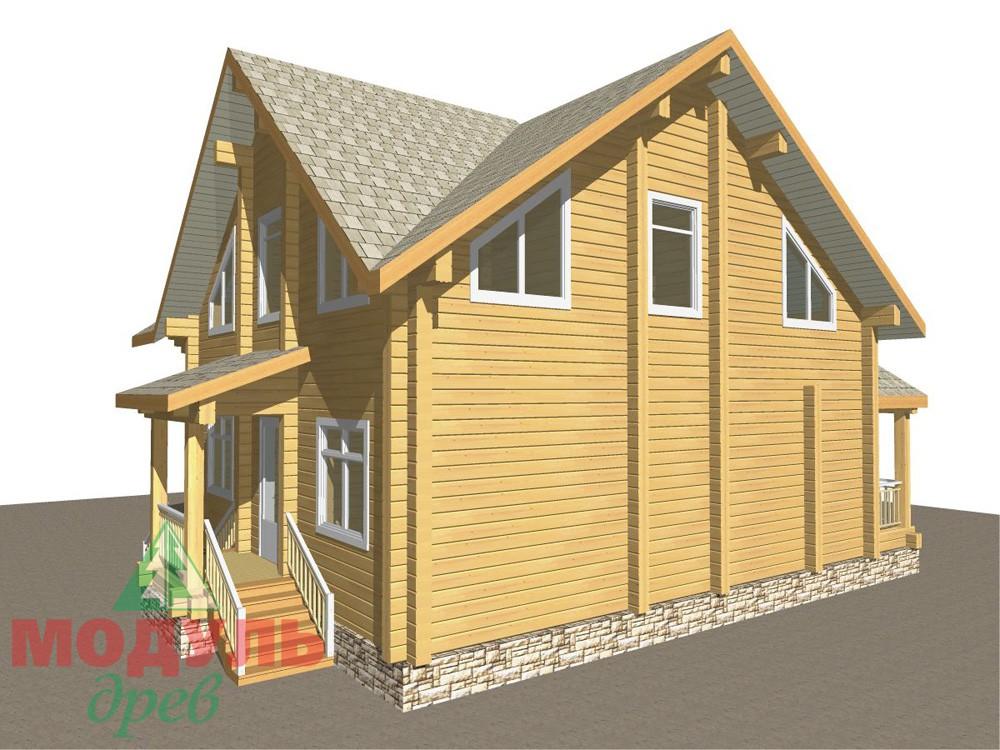 Загородный брусовой дом «Азов» - макет 6