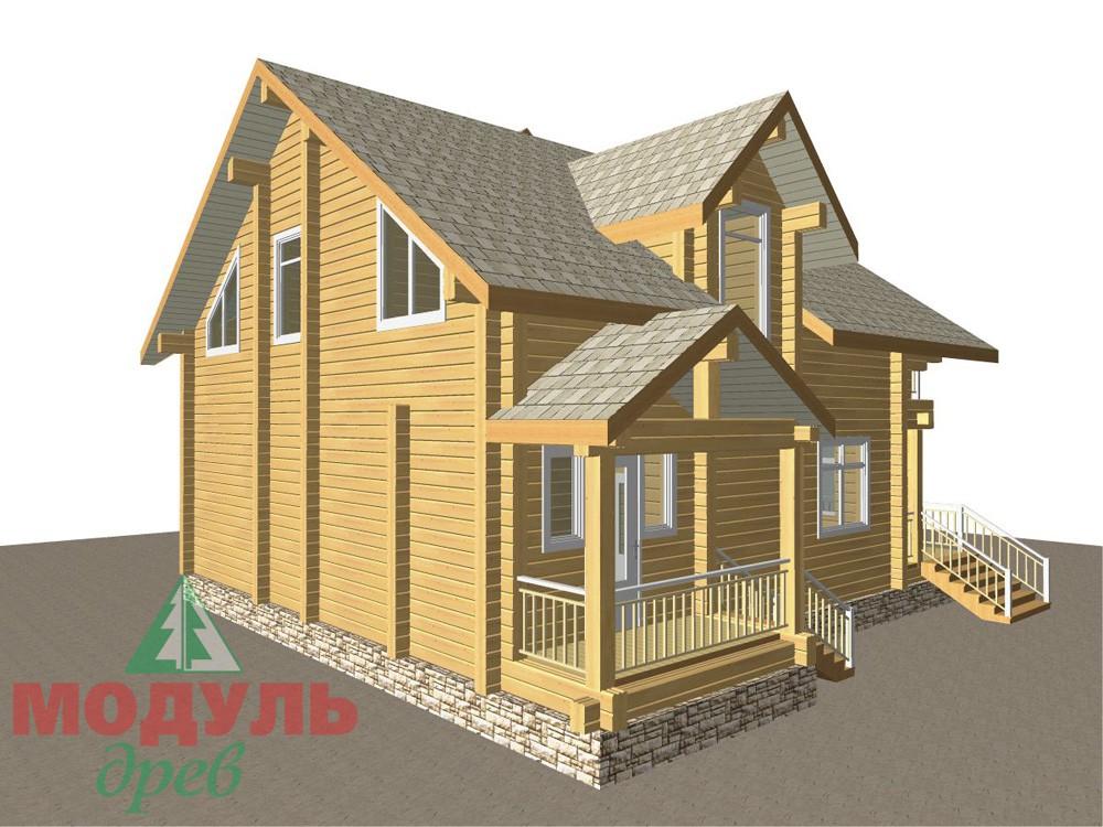 Загородный брусовой дом «Азов» - макет 7