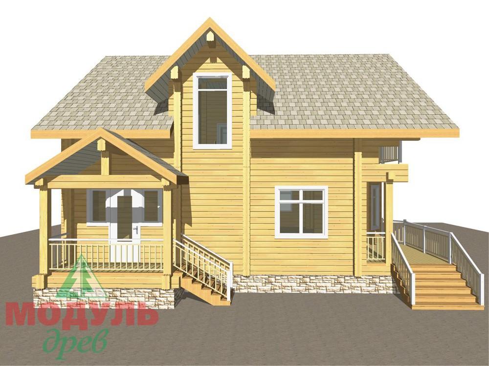 Загородный брусовой дом «Азов» - макет 8