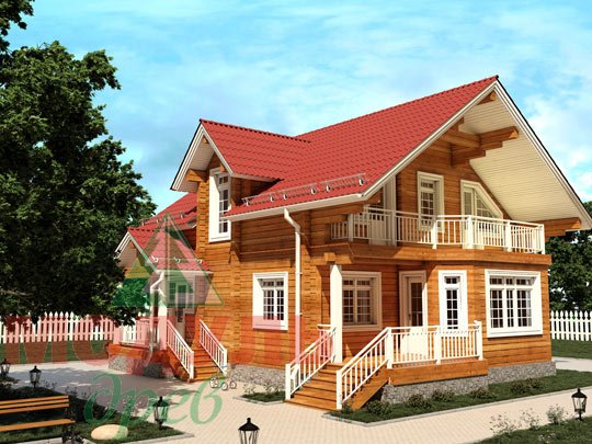 Загородный брусовой дом «Азов»