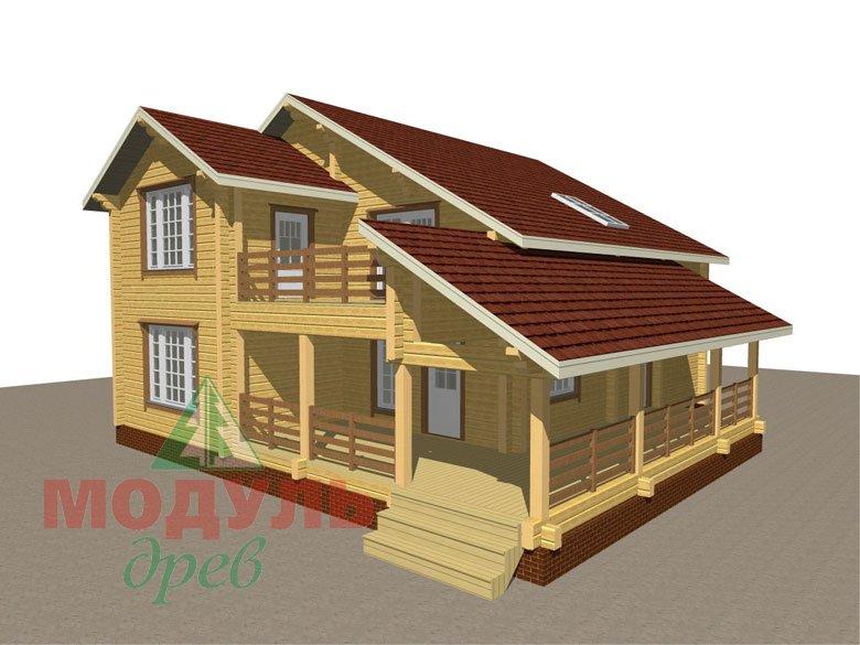 Проект дома из бруса «Белозерск» - макет 1