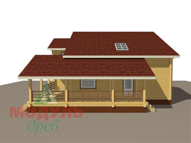 Проект дома из бруса «Белозерск» - макет 2