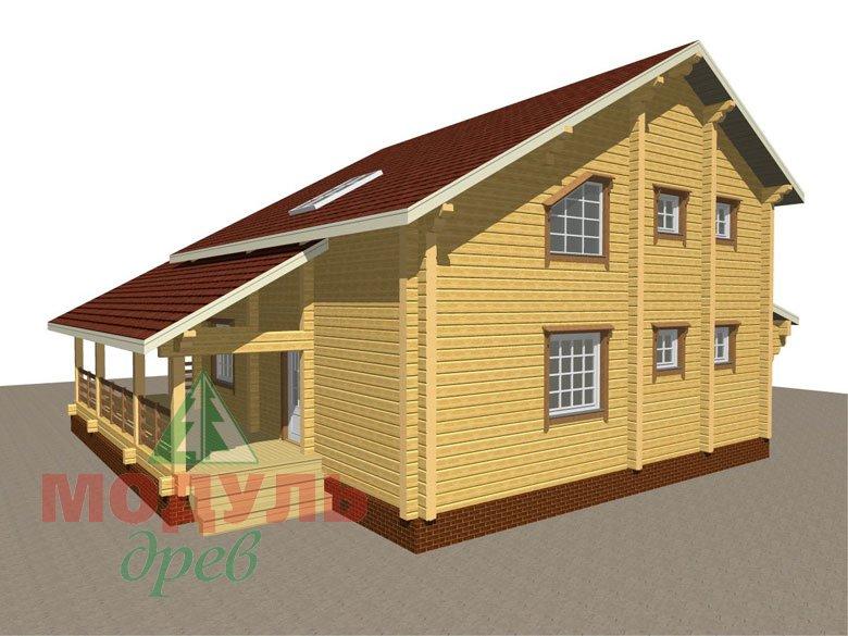 Проект дома из бруса «Белозерск» - макет 3