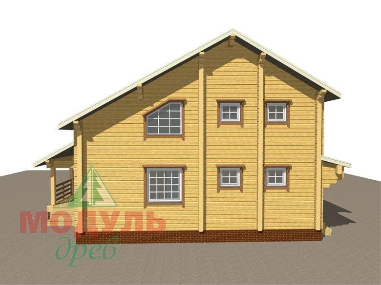 Проект дома из бруса «Белозерск» - макет 4
