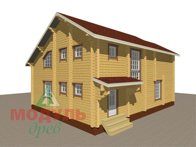 Проект дома из бруса «Белозерск» - макет 5