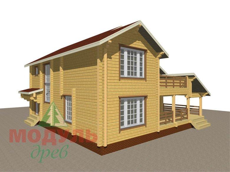 Проект дома из бруса «Белозерск» - макет 7