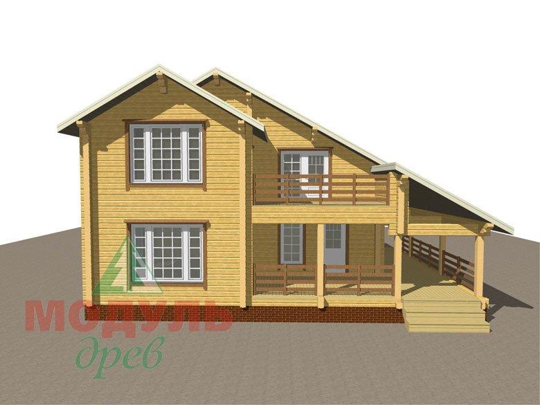 Проект дома из бруса «Белозерск» - макет 8