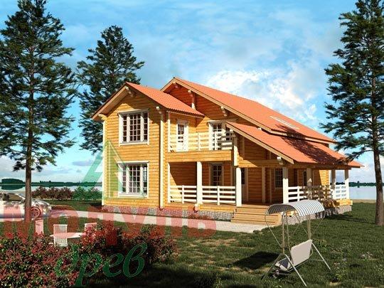 Проект дома из бруса «Белозерск»