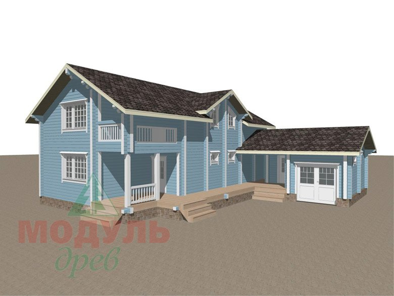 Проект дома из бруса «Братск» - макет 1