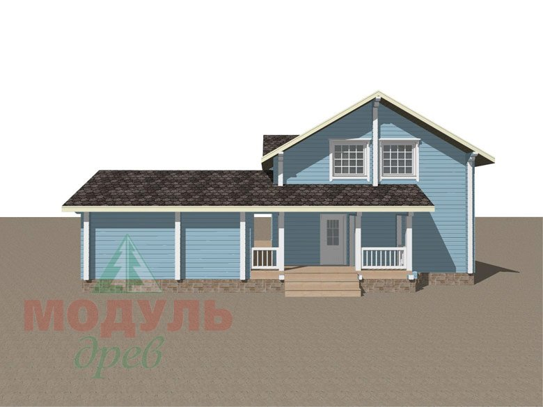 Проект дома «Братск» - макет 4