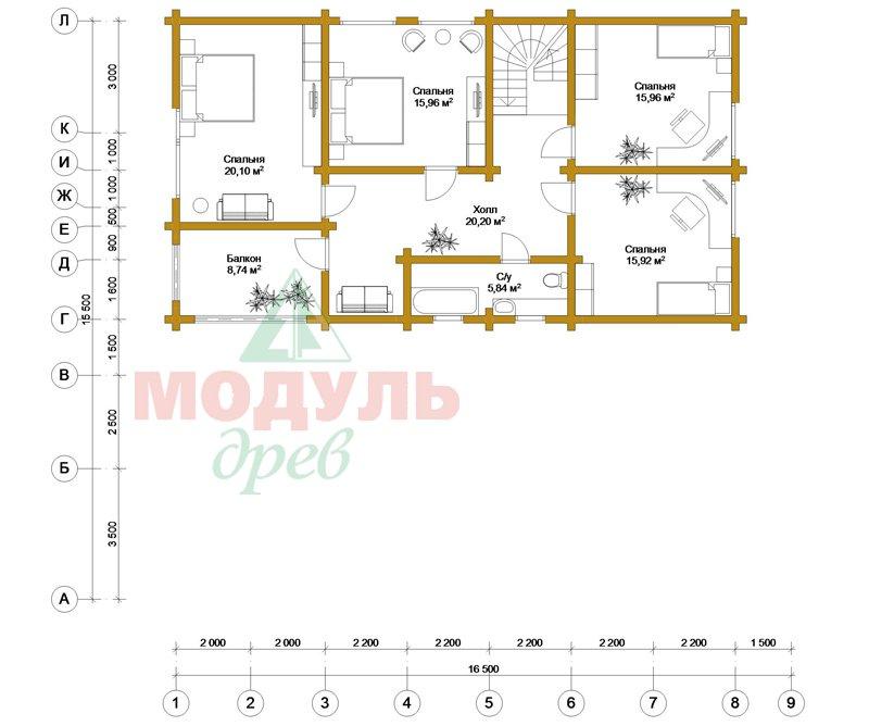Проект дома «Братск» - планировка 2