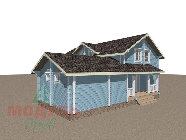 Проект дома «Братск» - макет 3