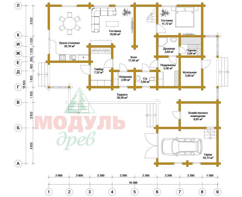 Проект дома «Братск» - планировка