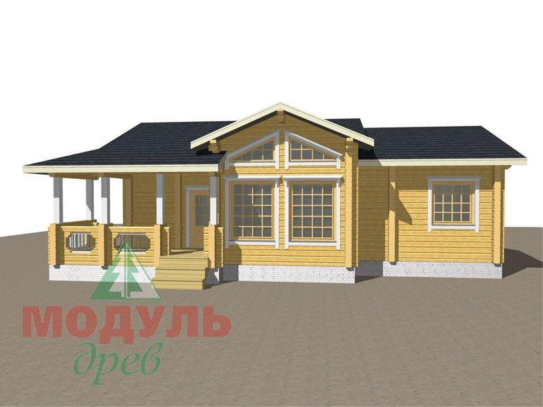 Дом из бруса «Чехов» макет 2