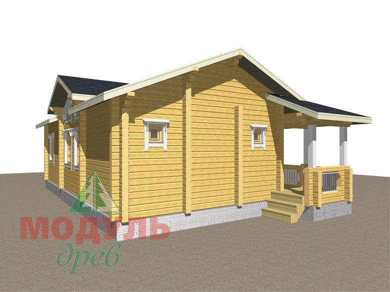 Дом из бруса «Чехов» макет 7