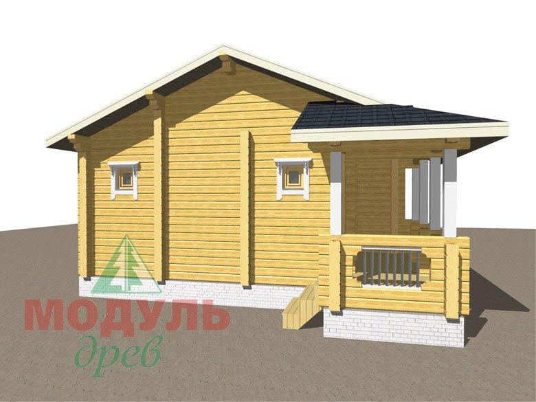 Дом из бруса «Чехов» макет 8