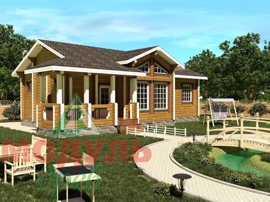 Проект дома из бруса «Чехов»