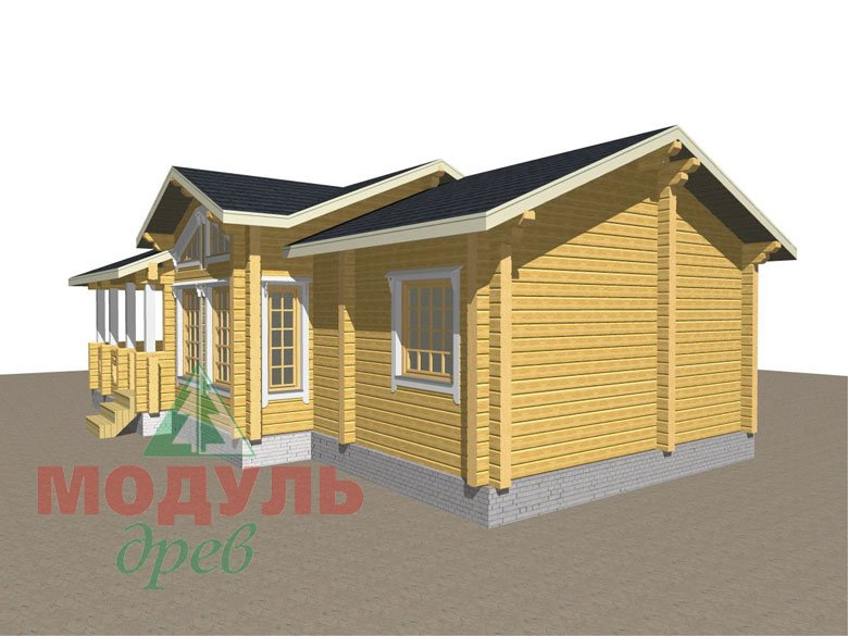 Дом из бруса «Чехов» макет 3
