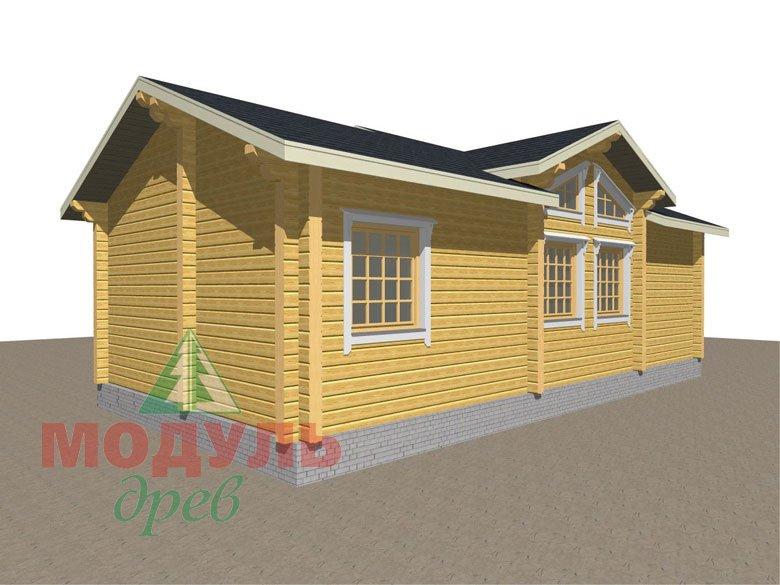 Дом из бруса «Чехов» макет 5