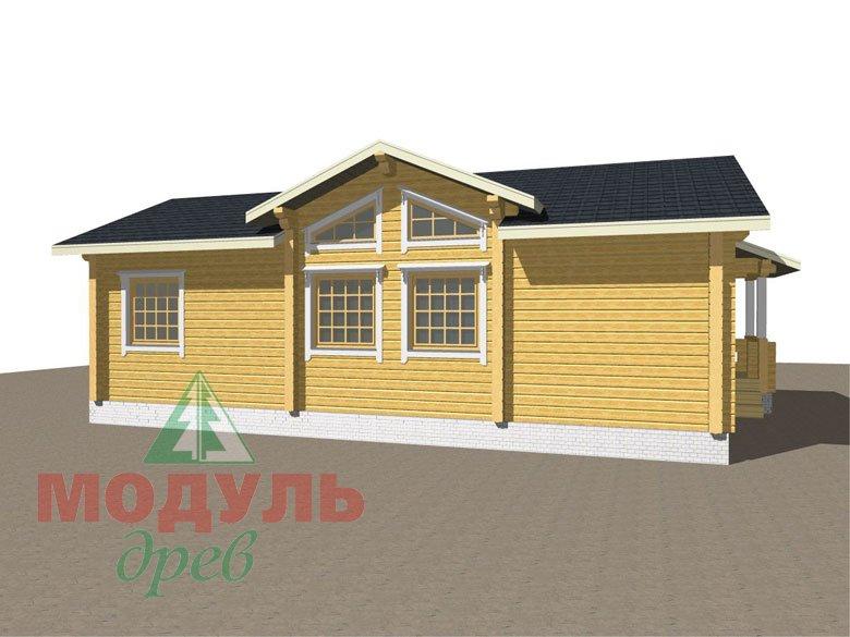 Дом из бруса «Чехов» макет 6