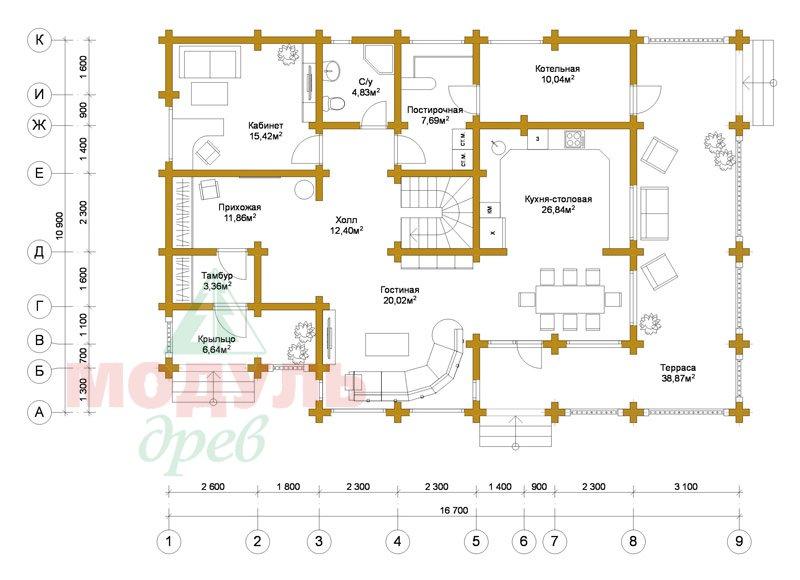 Проект загородной усадьбы «Чернигов» - планировка