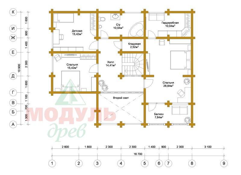 Проект загородной усадьбы «Чернигов» - планировка 2