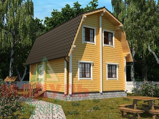 Проект дома из бруса «Дачник»