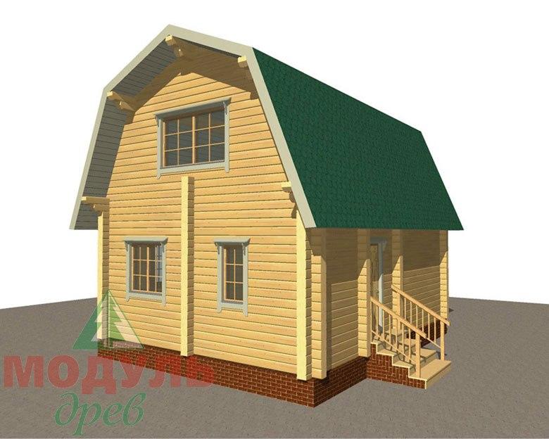 Проект дома из бруса «Дачник» макет 1