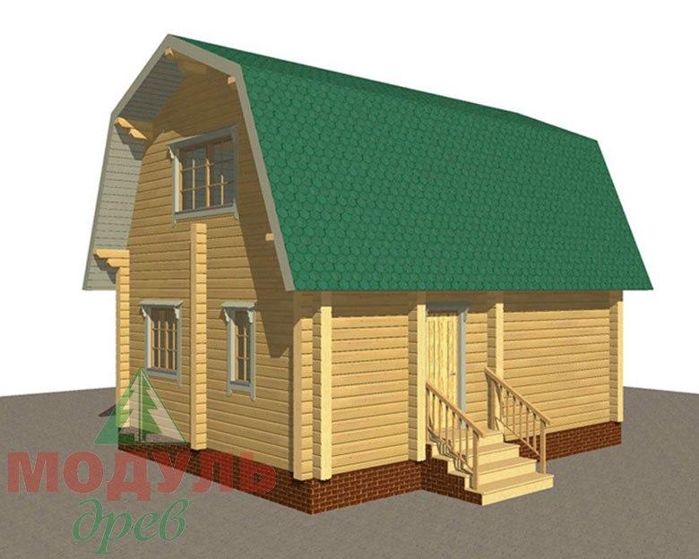 Дом из бруса «Дачник» макет 2