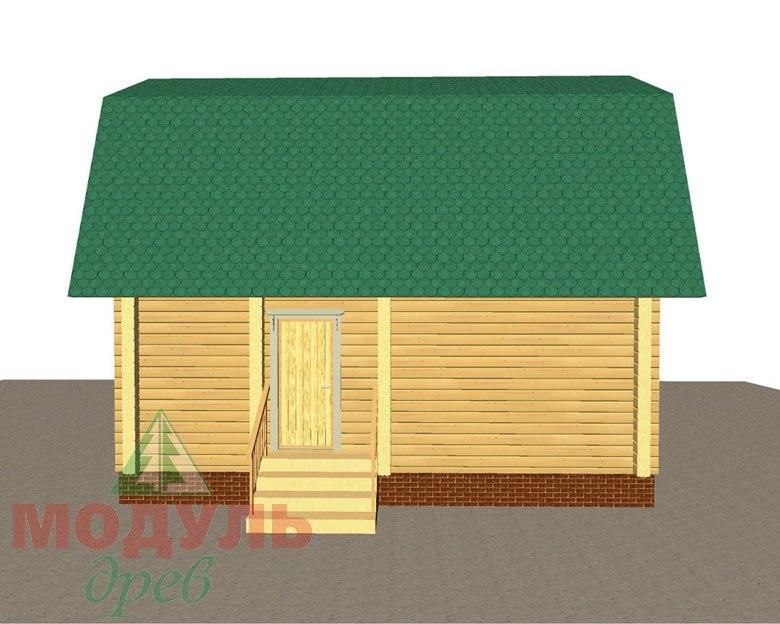 Дом из бруса «Дачник» макет 3