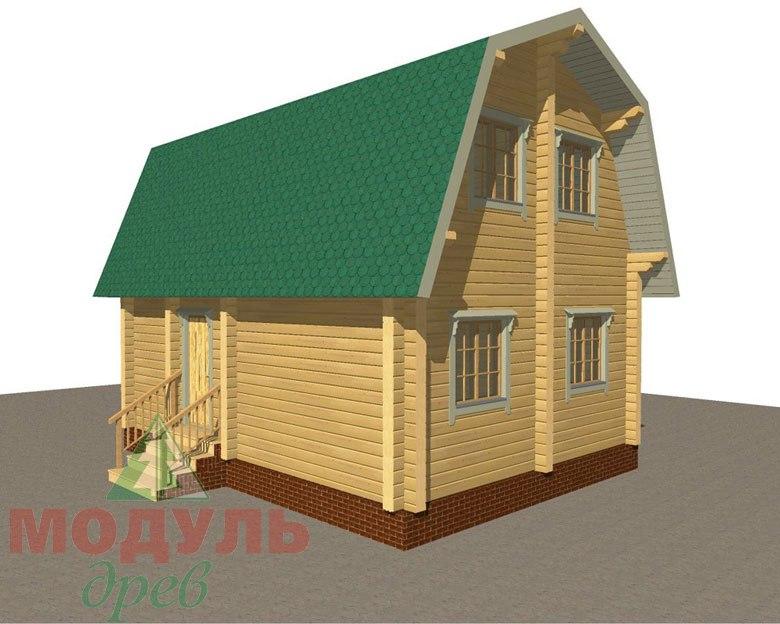 Дом из бруса «Дачник» макет 4