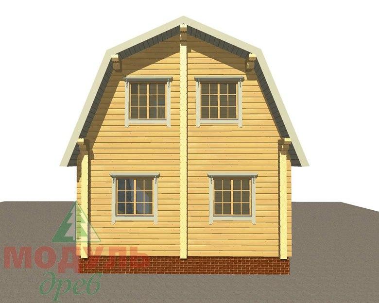 Дом из бруса «Дачник» макет 5