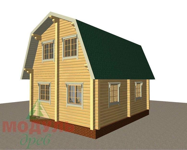 Дом из бруса «Дачник» макет 6