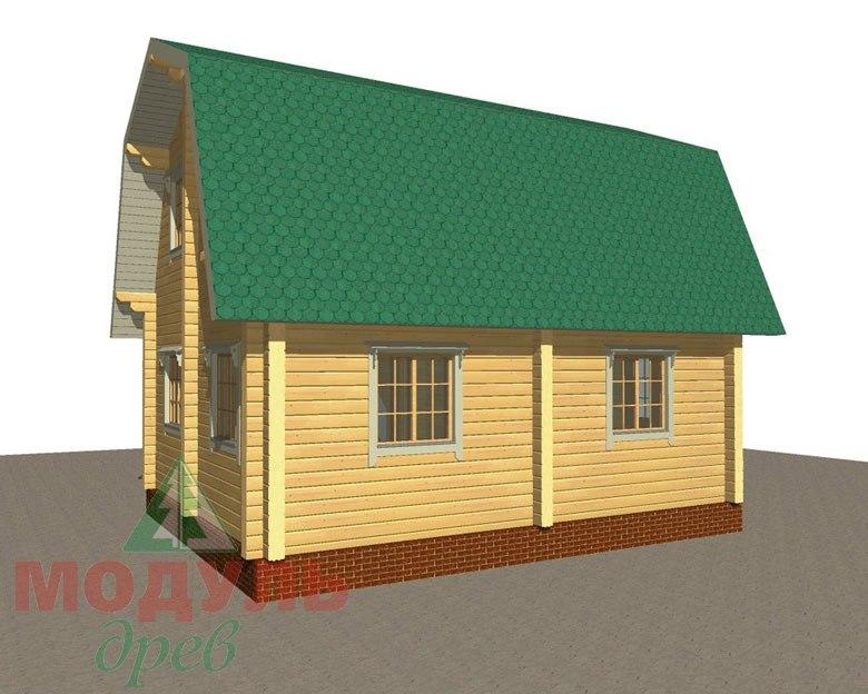 Дом из бруса «Дачник» макет 7