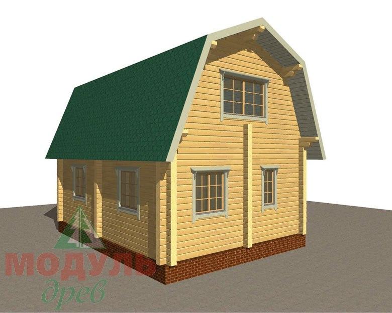 Дом из бруса «Дачник» макет 8