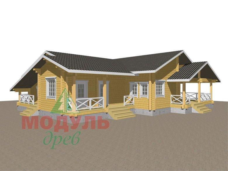 Проект одноэтажного дома из бруса «Дмитров» - макет 1