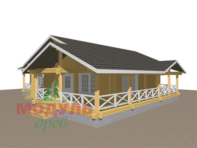 Одноэтажный дом из бруса «Дмитров» - макет 3