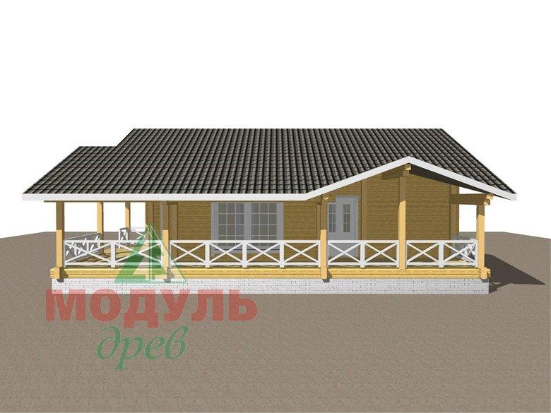 Одноэтажный дом из бруса «Дмитров» - макет 4